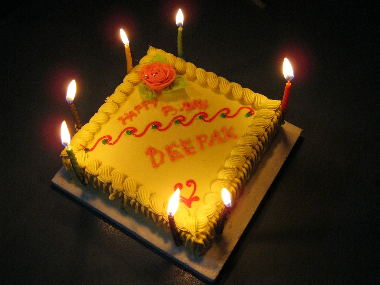 Deepak Birthday Cake Image Download : Deepak B Day Cake - Deepak Ranjan Mahanta